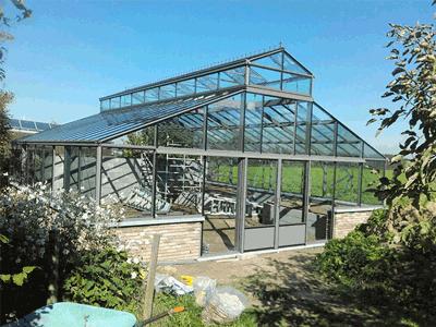 Gewächshaus - Orangerie Satteldach mit Kuppel