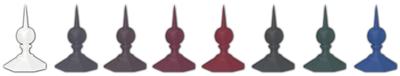 Firstspitze für runde Glaspavillons-RAL-Farben