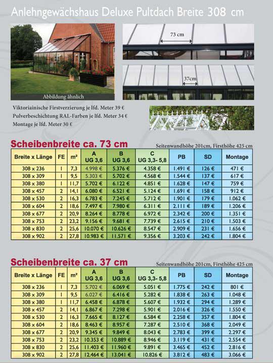 Gewächshaus preisliste36 308 cm Seite 46