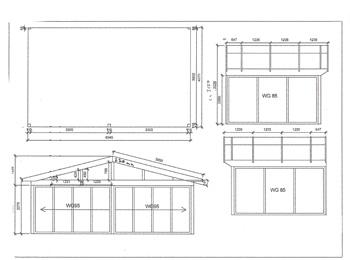 Anbaugewächshaus in Wohnraumqualität zum Sonderpreis -Zeichnung1