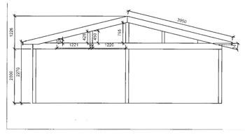 Anbaugewächshaus in Wohnraumqualität zum Sonderpreis -Zeichnung3