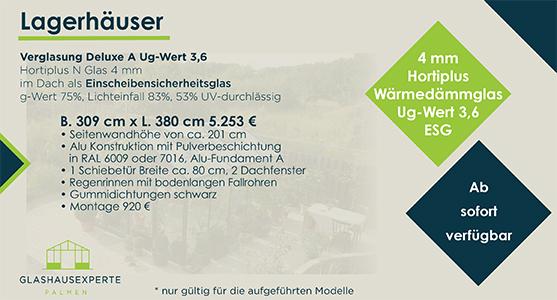 Gewächshaus 309 cm x 380 cm zum Sonderpreis von 5253 €