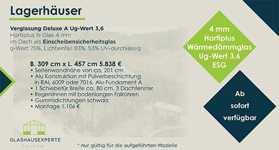 Gewächshaus 309 cm x 457 cm zum Sonderpreis von 5.838 €