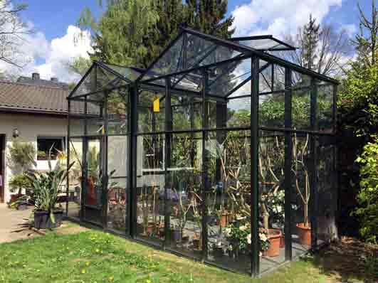 Gewaechshaus mit Floatglas mehrschiffige Gewächshäuser